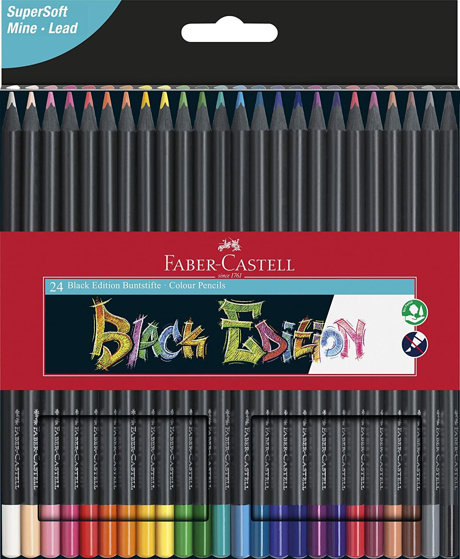Faber-Castell 116424 - Buntstifte Blackwood, 24er Etui