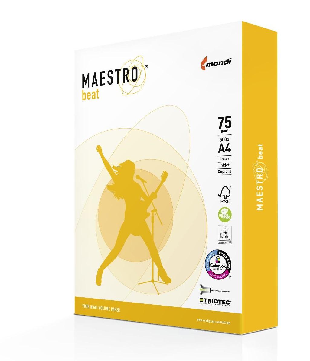 Maestro beat 75g/m² DIN-A4 - 500 Blatt weiß