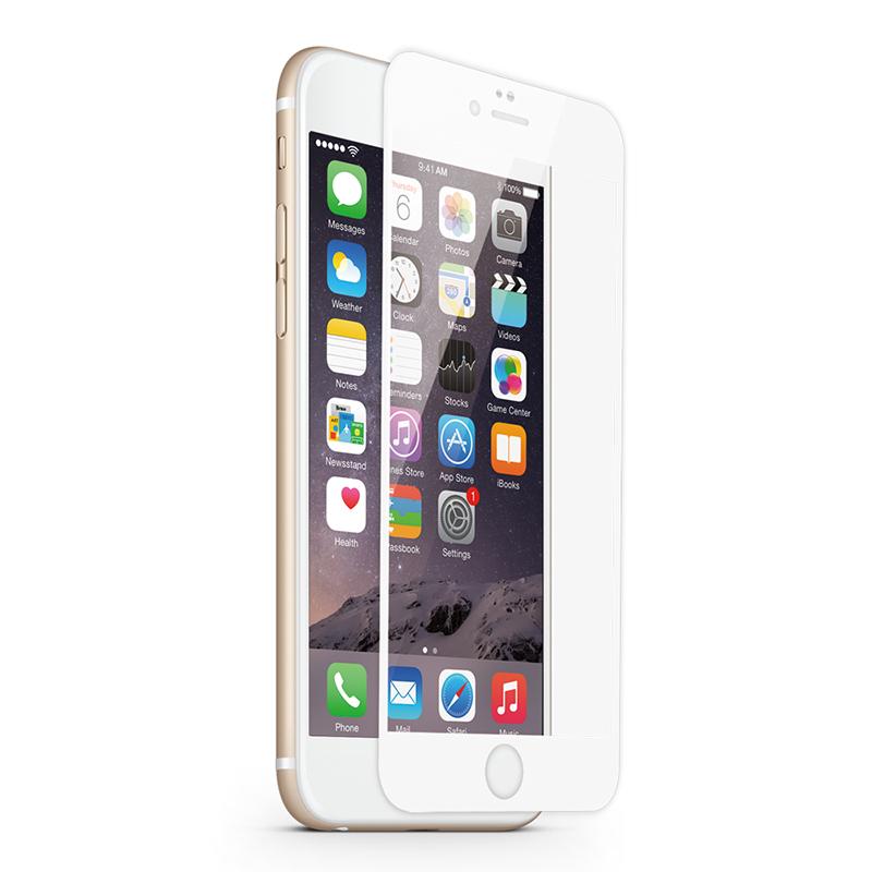 KMP Schutzglas für Apple iPhone 6, 6s weiß / white