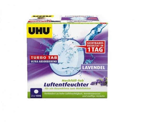 UHU 50765 Luftentfeuchter Nachfülleinheit, 2 x 100 g Mit Lavendelduft