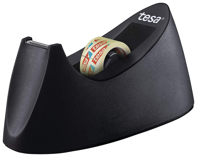 tesa Easy Cut Curve Tischabroller (rutschfest, einfache Handhabung, sauberer Schnitt mit 1 Rolle tes