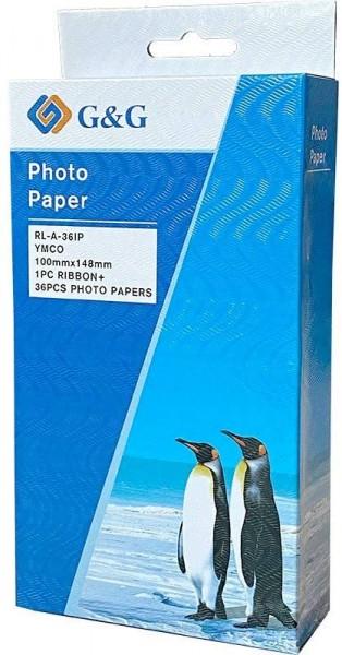 G&G Fotopapier-Farbkartuschen-Set kompatibel zu Canon KP-36IP (36 Fotos 10 x 15 cm) für Canon Selphy