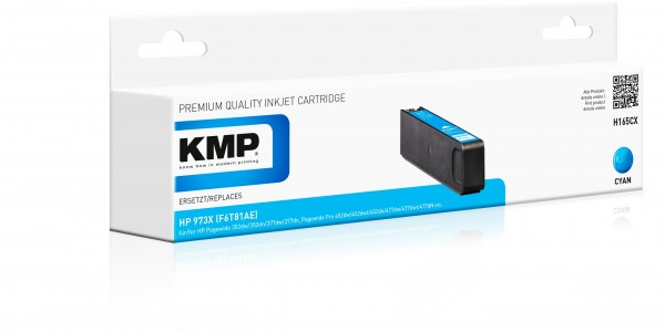 KMP Patrone H165CX für (F6T81AE) HP 973X HP PageWide Pro 450 Series HP PageWide Pro 452 dn etc. cya