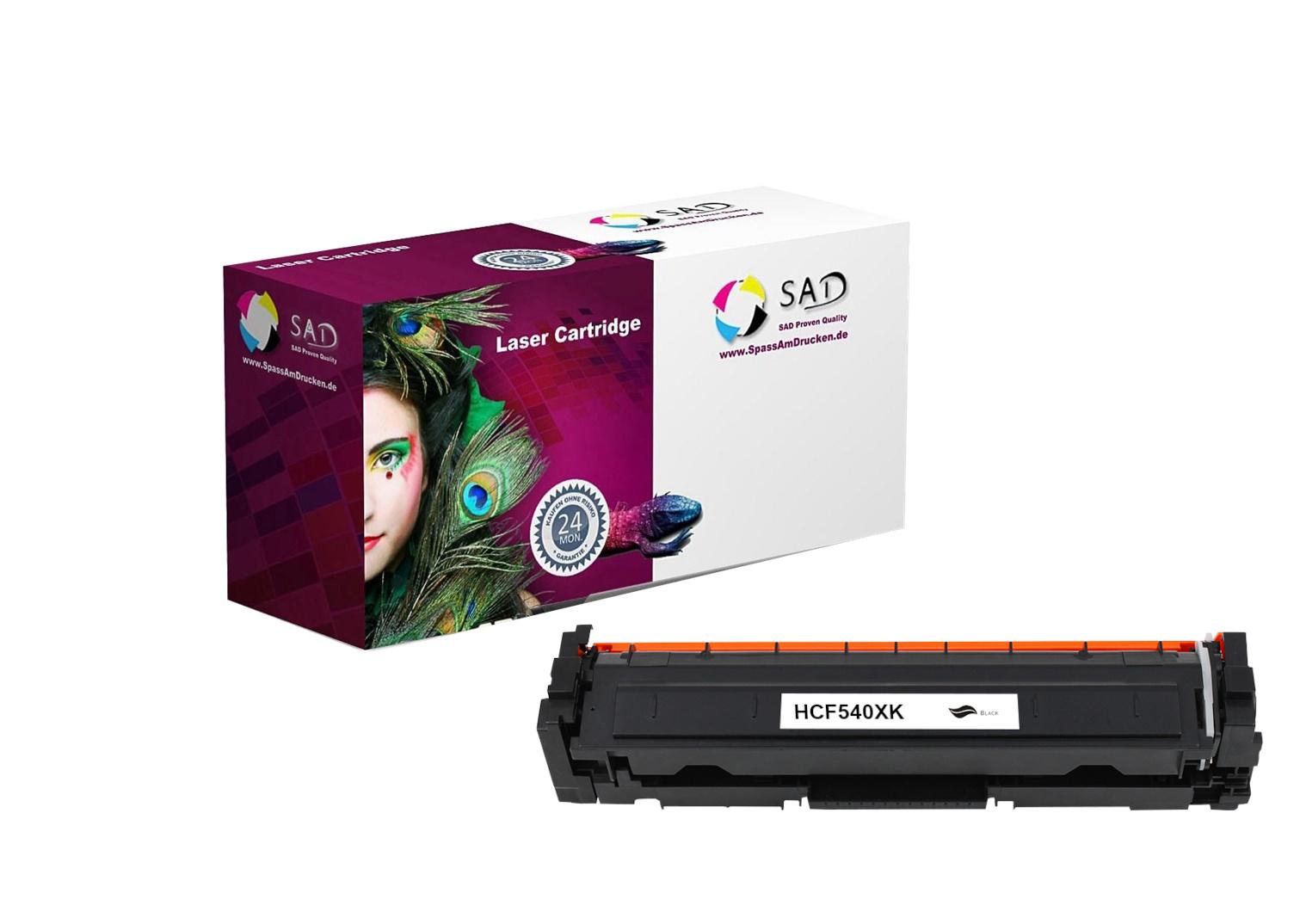 SAD Premium Toner komp. zu HP 203X - CF540X black für HP LaserJet Pro M254, HP LaserJet Pro M280, HP