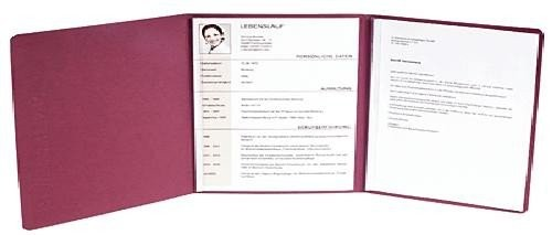 5 x EXACOMPTA Premium Bewerbungsmappe Bordeaux mit Leinen-Optik
