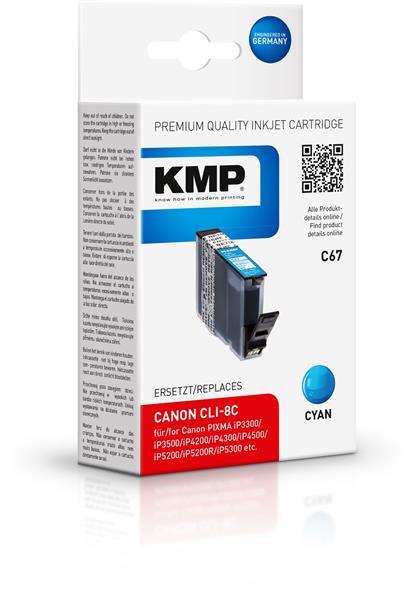 KMP Patrone C67 komp. zu CLI-8C Canon PIXMA iP4200 5200 MP500 cy