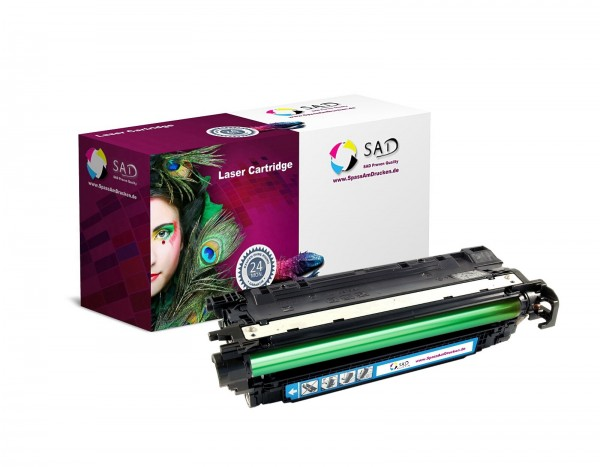 SAD Toner für HP CE251A CLJ CP 3520 3525 DN / N / X etc. cyan