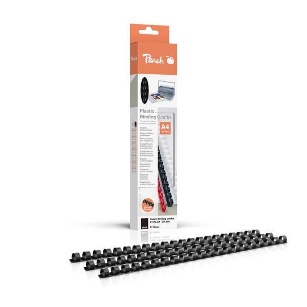 Peach Binderücken 10mm, für 65 Seiten A4, schwarz, 25 Stück, R-PB410-02