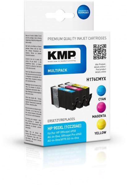 KMP Multipack H176CMYX für (T6M03AE, T6M07AE, T6M11AE) HP 903XL HP OfficeJet 6900 Series HP OfficeJe