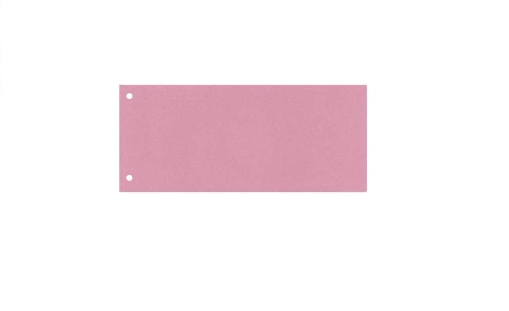 100x Trennstreifen Trennblätter Trennlaschen Register Aktenfahnen 10,5x24cm Rot