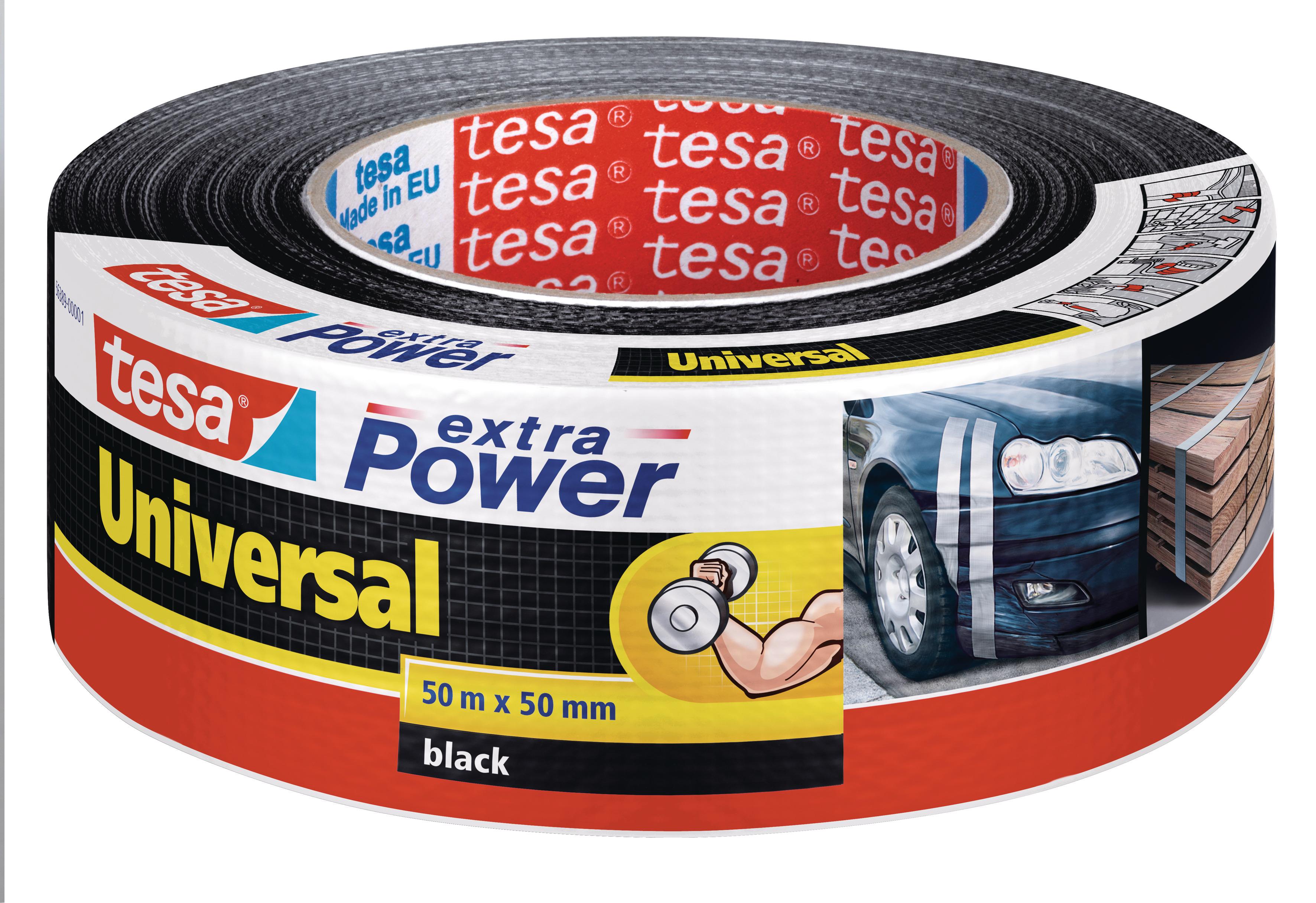 Vorschau: GP: 0,13 EUR/m tesa extra Power Universal schwarz 50m x 50mm