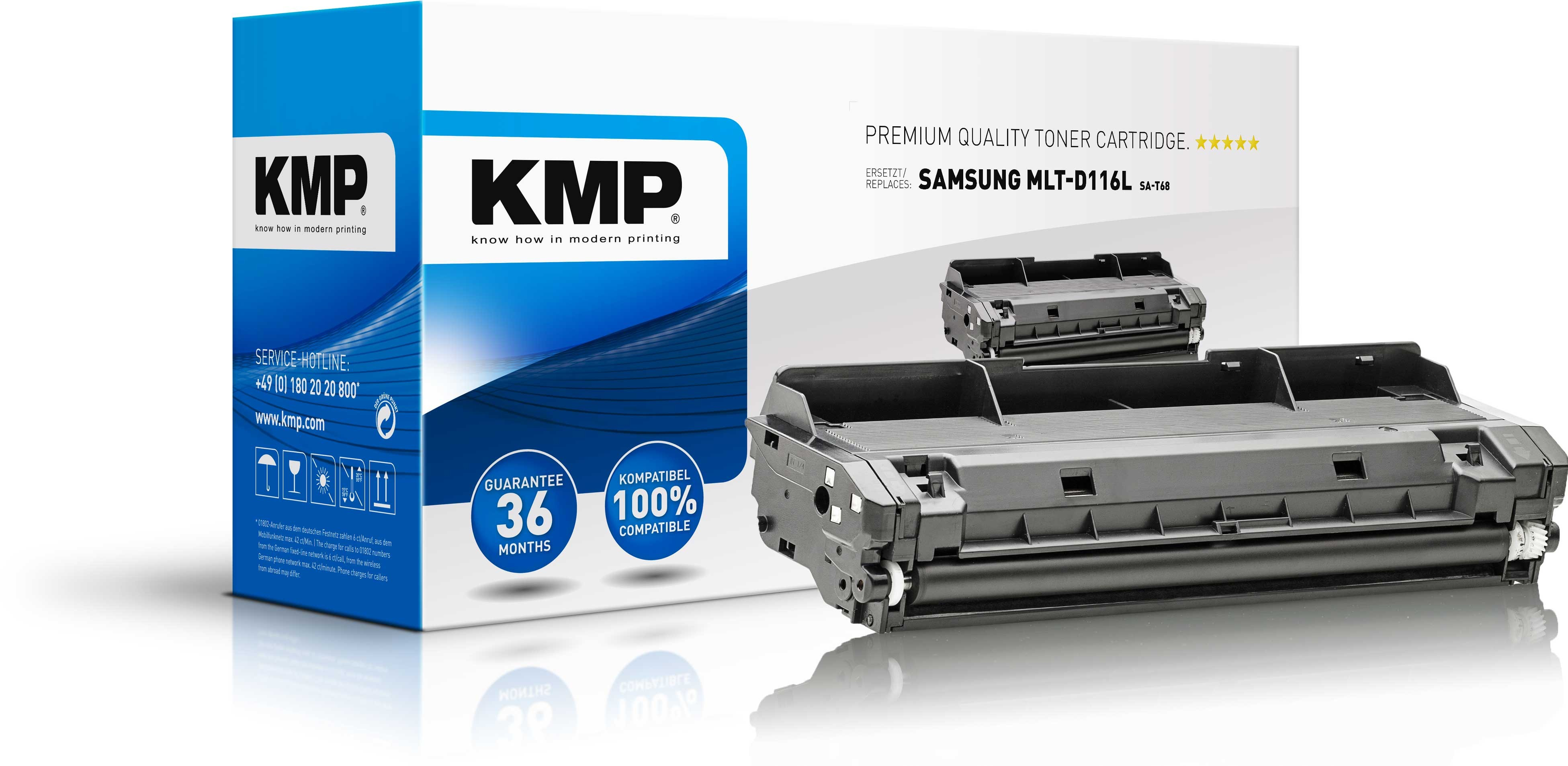 KMP Toner SA-T68 für MLT-D116L Samsung M2625 M2675  etc. black