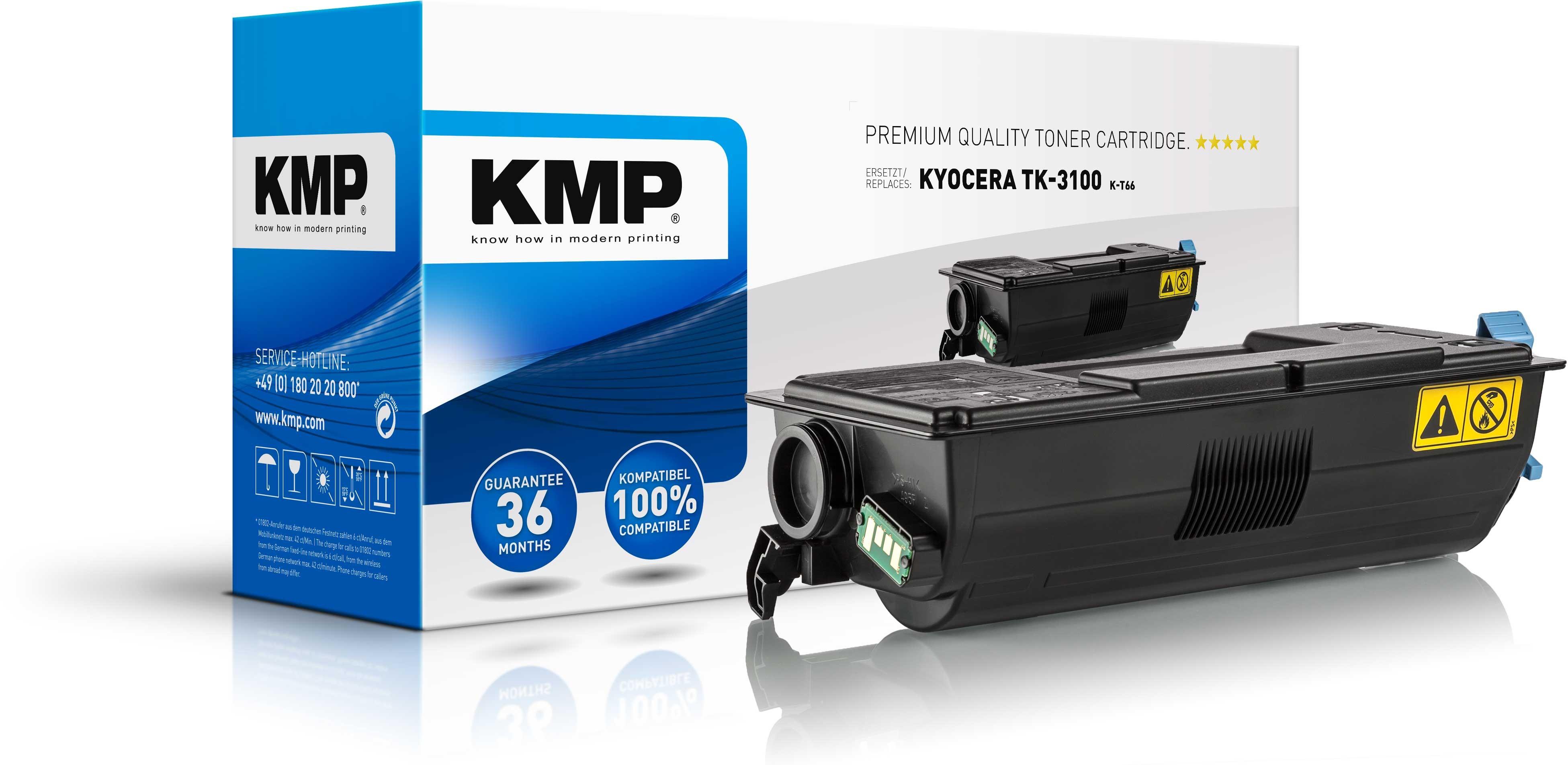 KMP Toner K-T66 für Kyocera TK-3100 FS-2100D etc. black