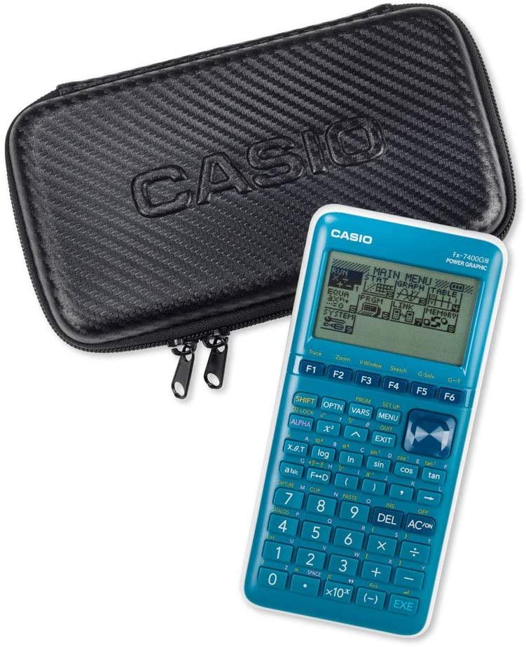 Casio Graph-Case, Schutztasche für Grafikrechner, schwarz, carbon design, mit Innentasche für Zubehö