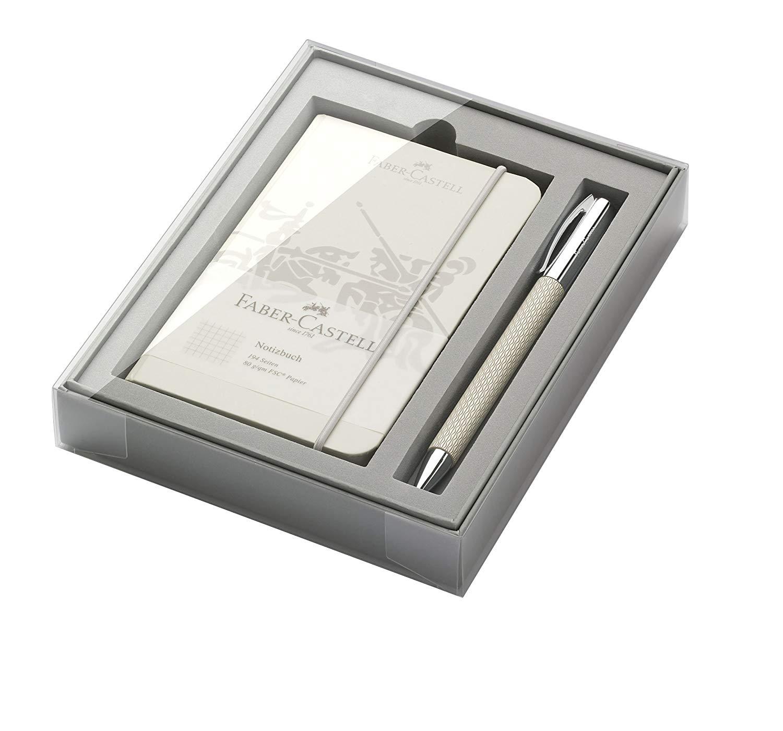 """Faber-Castell 149614 Opart""""White Sand"""" Promo-Set Ambition mit Kugelschreiber"""