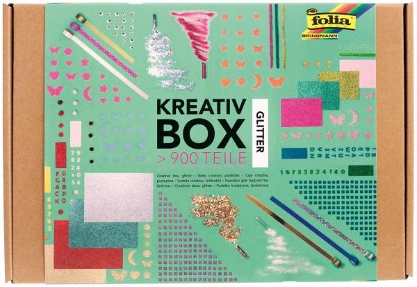 "folia 937 - Kreativ Box ""Glitter Mix"", über 900 Teile, glitzernder, bunter Materialmix zum phantasie"