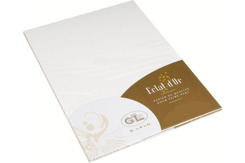 G. LALO Blattgoldpapier 250 g/m² DIN-A4 auf DIN-A5 gefalzt 20 Blatt