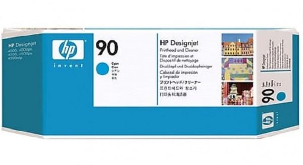 Original HP C5055A / 90, Premium Drucker-Patrone, Cyan, 400 ml