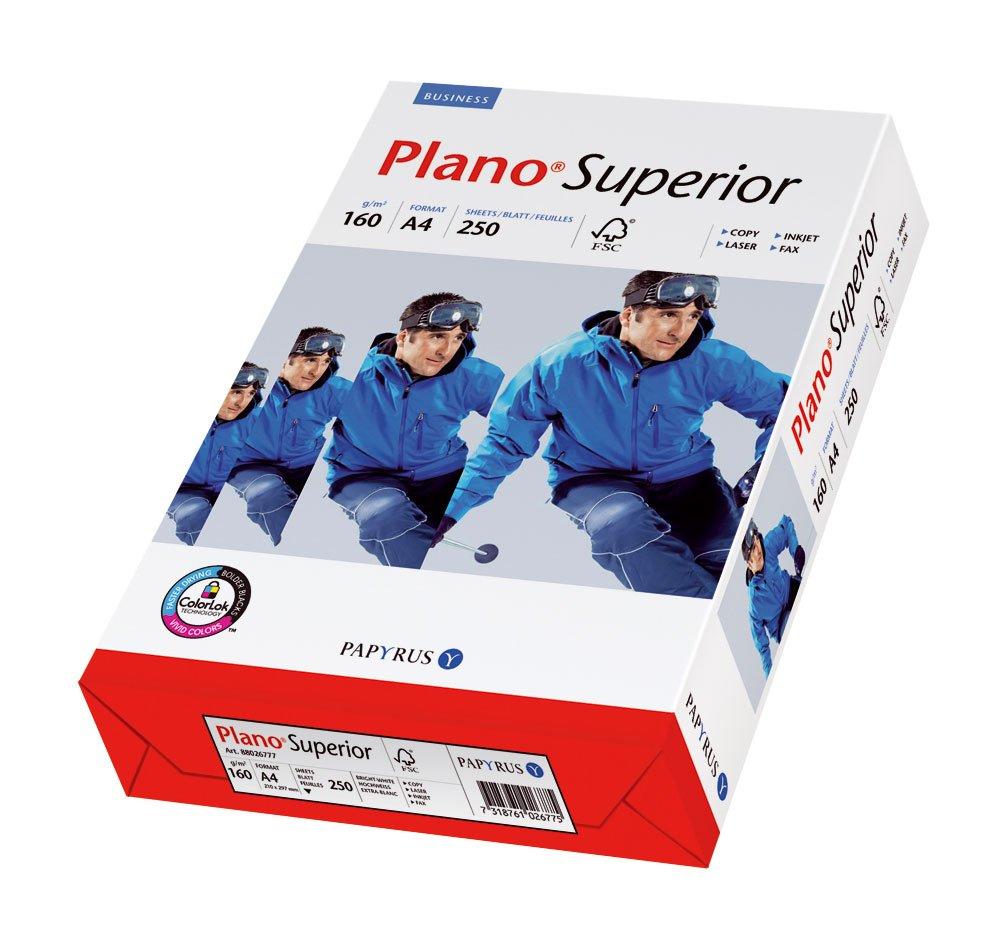 Papyrus 88026787 Druckerpapier PlanoSuperior 160 g/m², A4 250 Blatt, ungestrichen, matt, weiß