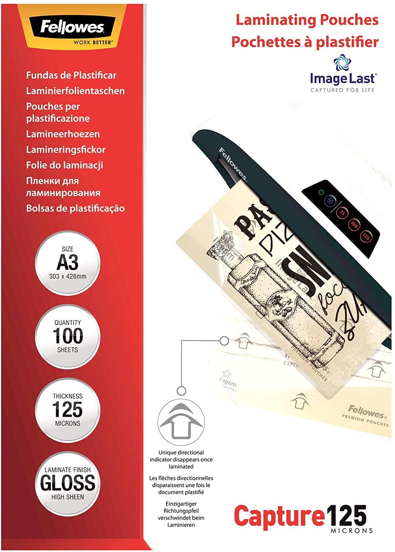 Fellowes Laminierfolien 125mic DIN-A3 - 100 Folien 5307506
