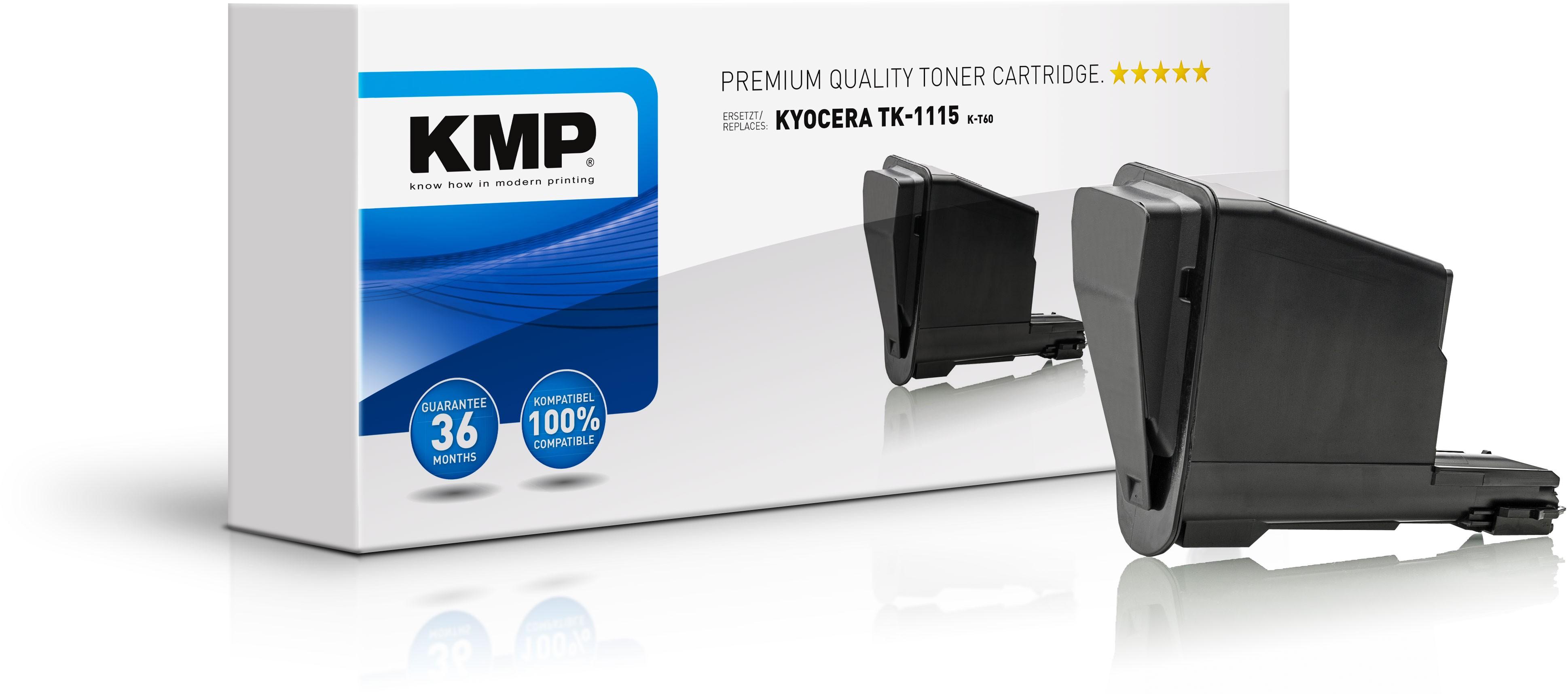 KMP Toner K-T60 für Kyocera TK-1115 FS-1041 etc. black