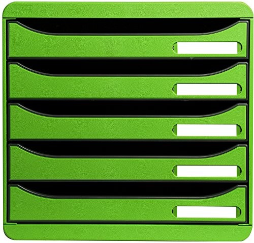 EXACOMPTA Big-Box Plus Classic in Apfelgrün 5 Fächer DIN-A4