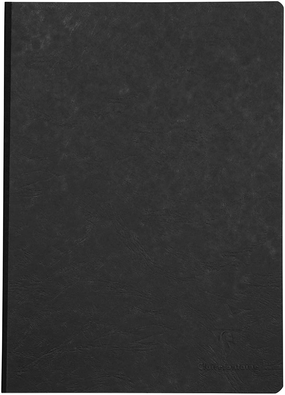 Clairefontaine 791401C Heft A4, Leinen, Age Bag, blanko, 96 Blatt, schwarz