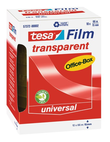 tesa transparent Office-Box 66m x 15mm 10 Rollen