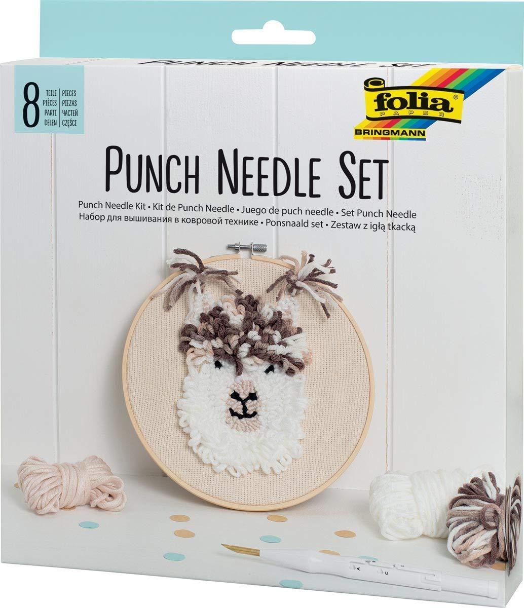 folia Punch Needle Set 8 Teile inkl. Punch Nadel 23411