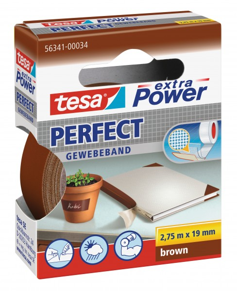 gp 0 72 eur m tesa extra power perfect gewebeband braun 2 75m x 19mm kleberollen verpacken spassamdrucken
