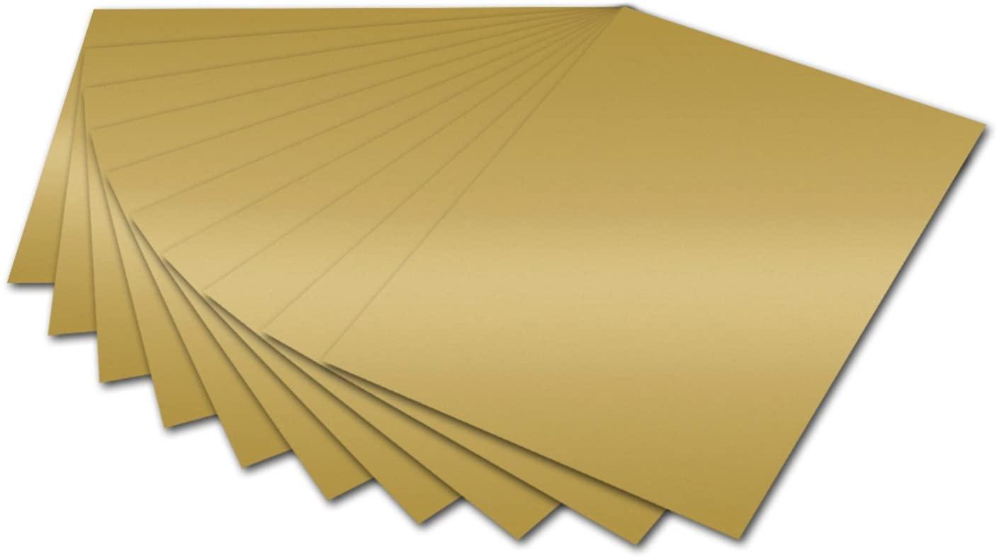 folia 6166 - Fotokarton Gold glänzend, 50 x 70 cm, 300 g/qm, 10 Bogen - zum Basteln und kreativen Ge