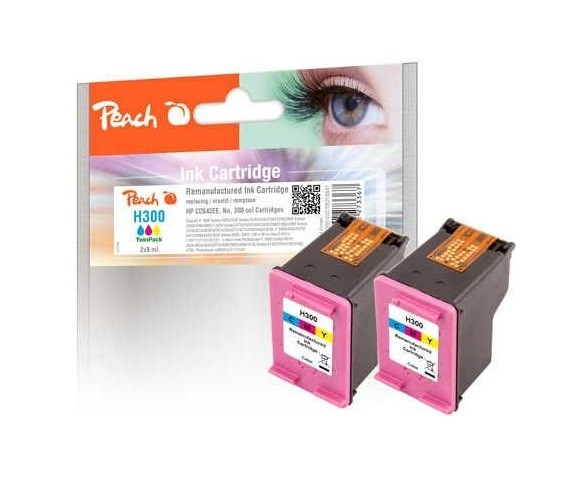 Peach PI300-502 TwinPack Druckkopf color kompatibel zu HP No. 300, CC643EE