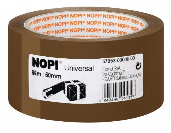 GP: 0,02 EUR/m NOPI Universal Kleberolle 50mm x 66m braun