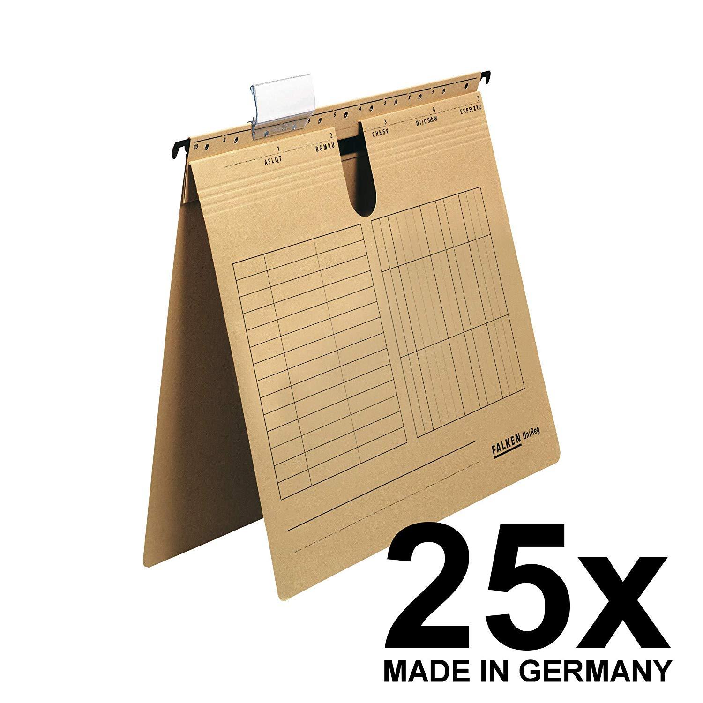 25x Falken Hängehefter 80004344 UniReg, braun 230g/m²-Kraftkarton, kaufm. Heftung