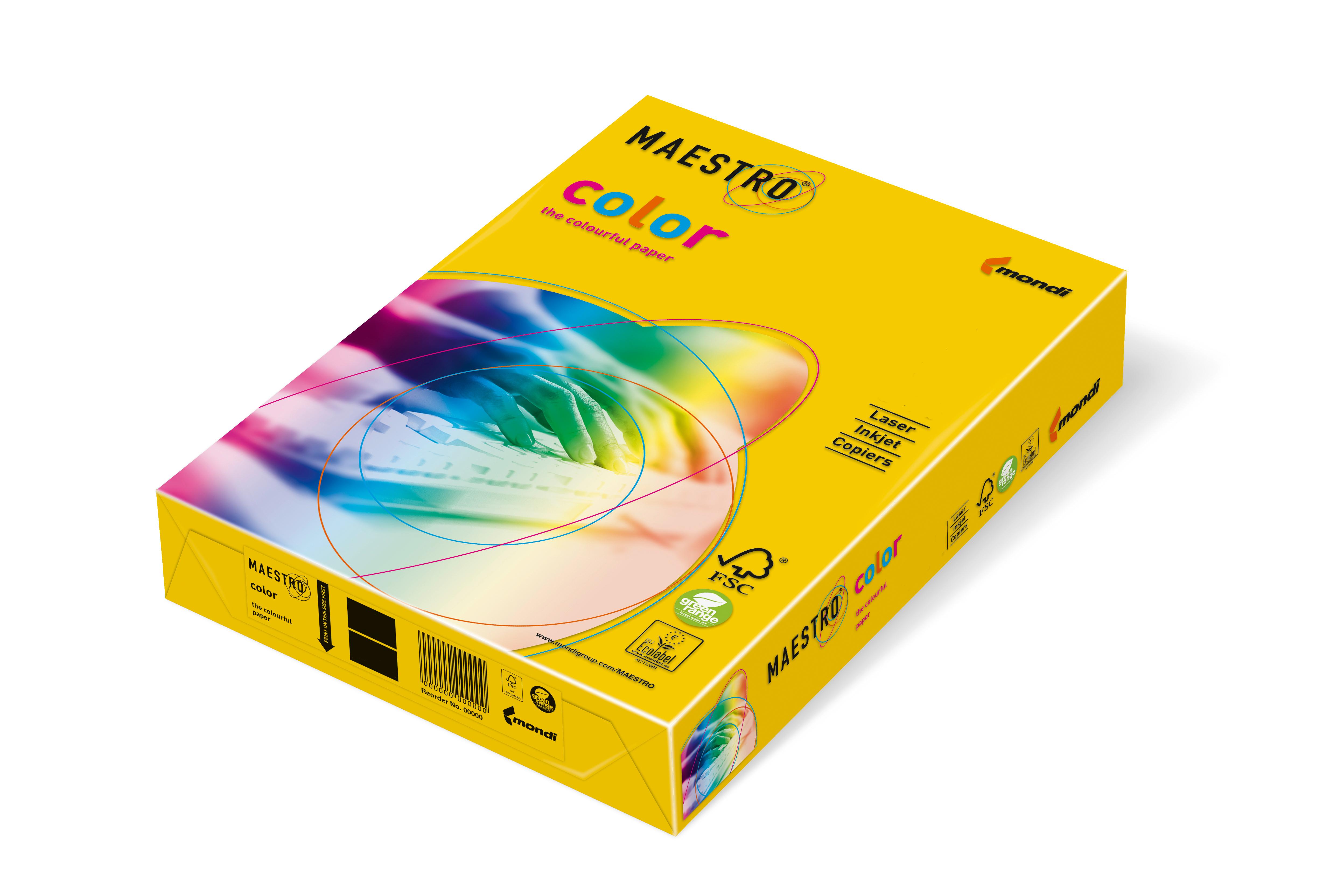 Vorschau: Mondi Maestro Color intensivgelb 120g/m² DIN-A4 - 250 Blatt IG50