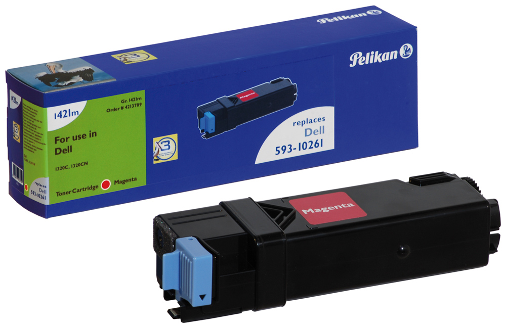 Pelikan Toner 1421m komp. zu 593-10261 Dell 1320C magenta