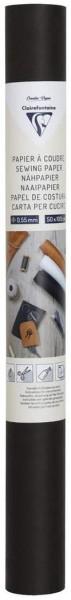 Clairefontaine 95535C – 1 Rolle zum Aufnähen, 50 x 100 cm, Schwarz
