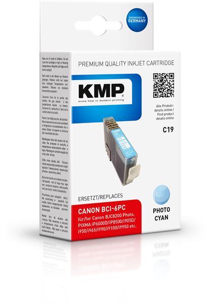 KMP Patrone C19 komp. zu BCI-6PC Canon i905D i965 S800 light cya