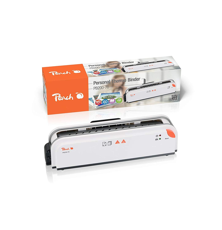 Peach PB200-70 Thermobindegerät DIN-A4 | Testsieger* | schnell startklar | nur 1 min. Bindezeit | ei