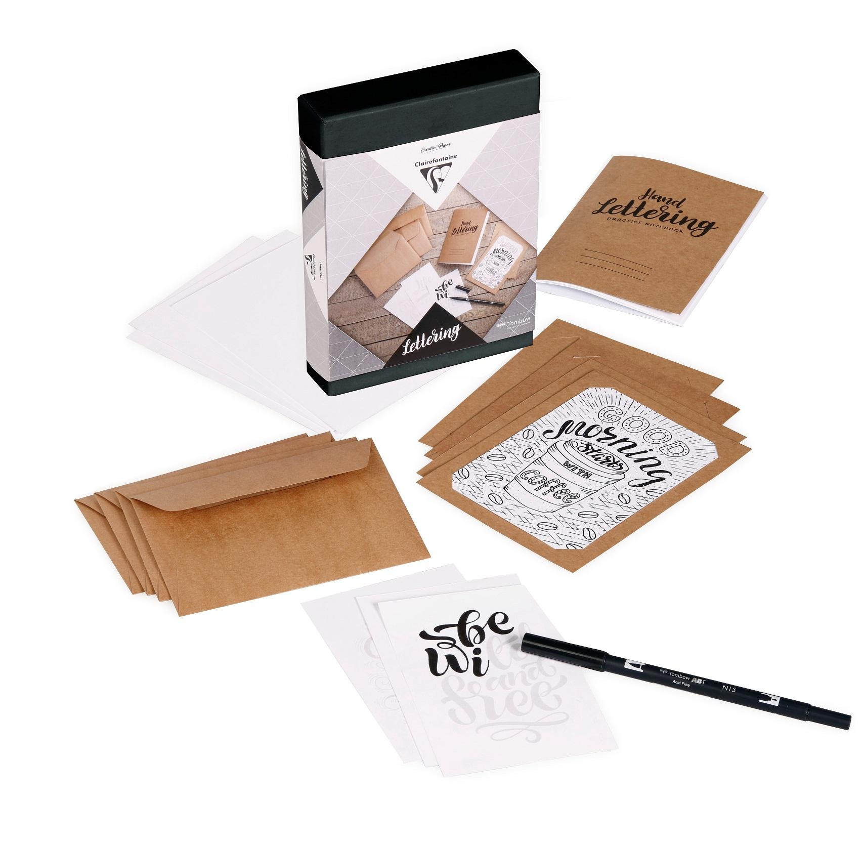 Clairefontaine 97704C – Eine kreative Box für Erwachsene – Lettering
