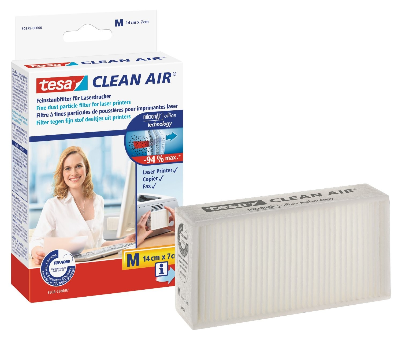 tesa Clean Air Feinstaubfilter für Laserdrucker M (14x7cm)