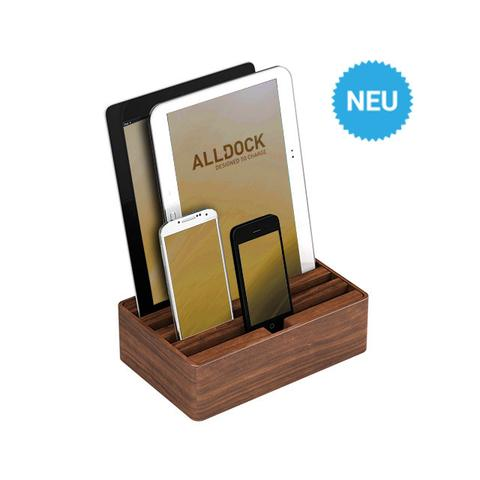 Ladestation ALLDOCK WALNUT 2.0 4-fach USB