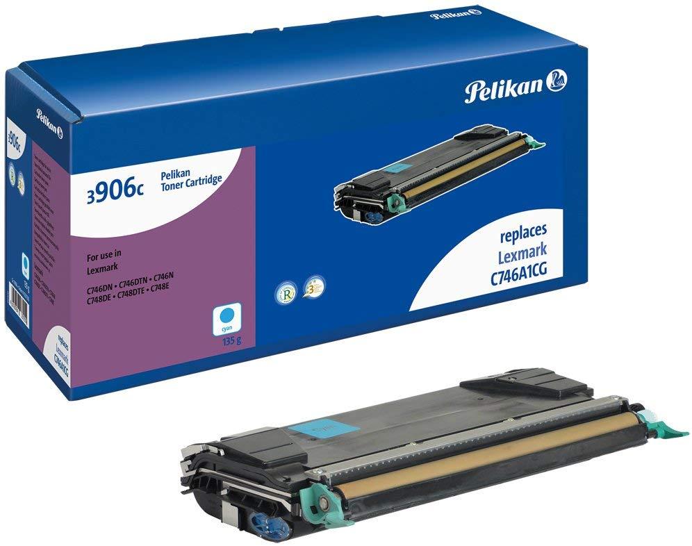 Pelikan Toner ersetzt Lexmark C746A1CG, Cyan, 7000 Seiten