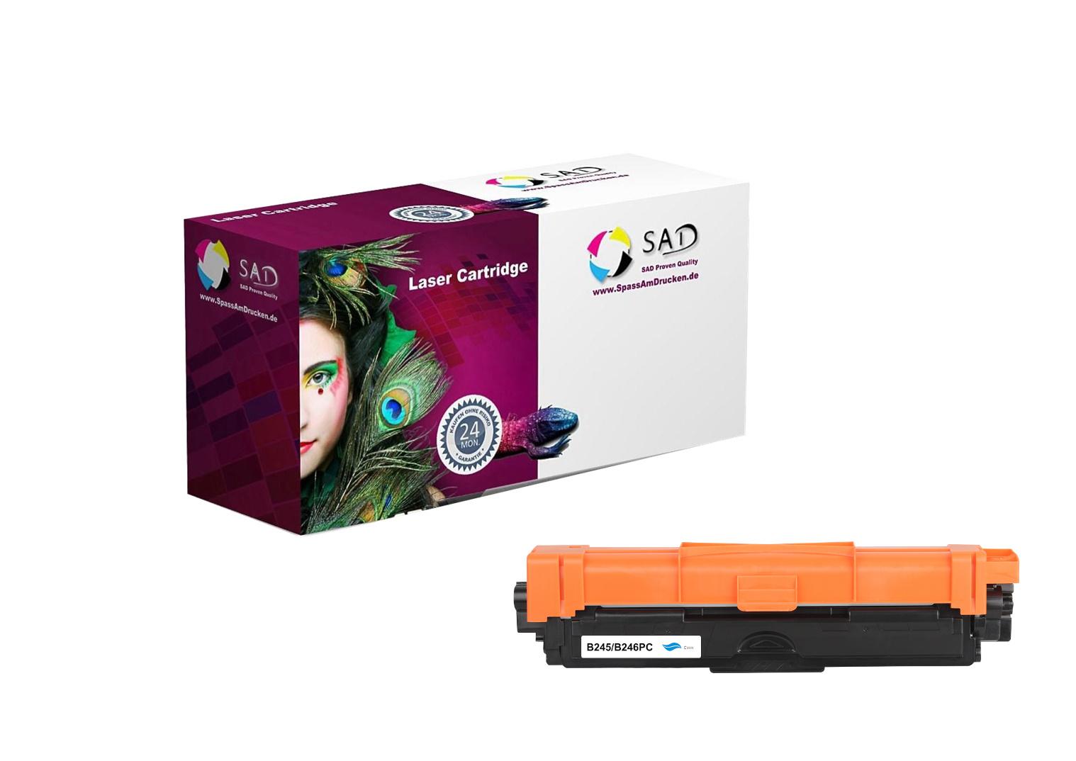SAD Premium Toner komp. zu Brother TN-245C / TN-246C cyan ca. 2.200 Seiten