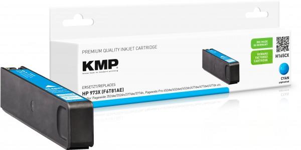 KMP H165CX cyan Tintenpatrone ersetzt HP Page Wide Pro HP 973XL (F6T81AE)