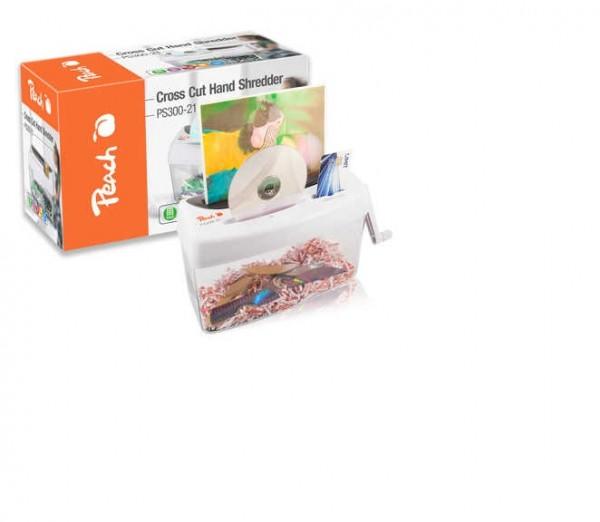 Peach PS300-21 Partikelschnitt Aktenvernichter | 1 Blatt | 4 Liter | 3.5 x 4mm Partikel (P-4) | Papi
