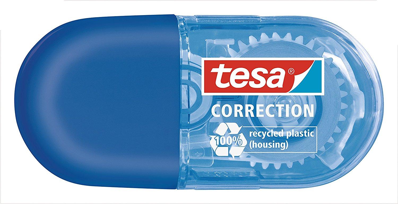 Vorschau: tesa Roller Korrigieren ecoLogo, Mini Roller blau 6m x 5mm