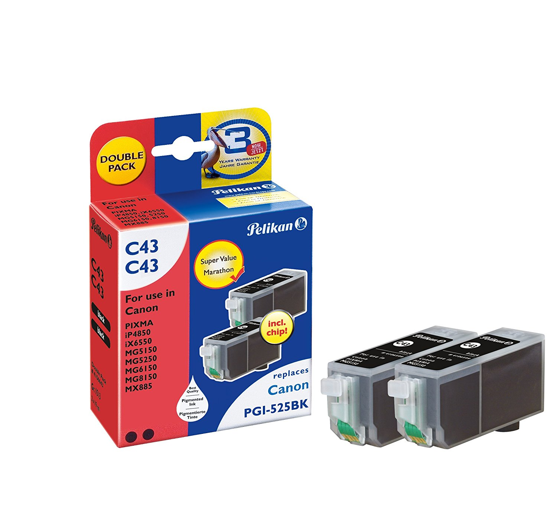 Pelikan Patrone Double Pack C43 komp. zu PGI-525 bk Canon Pixma iP4850 black