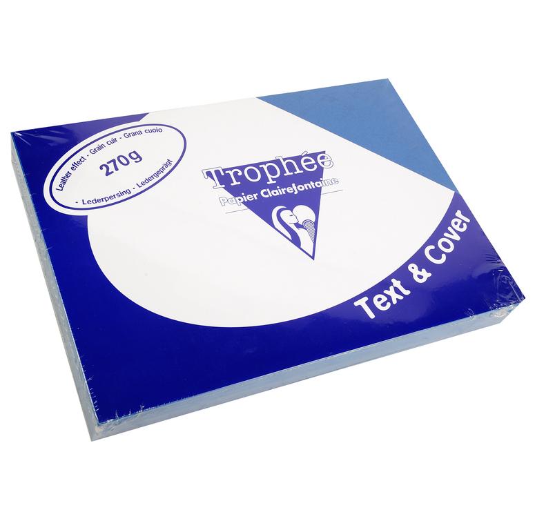 Clairefontaine Ledergeprägtes Papier 270 g/m² DIN-A4 Dunkelblau 100 Blatt