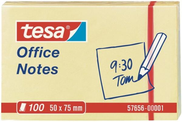 tesa Office Notes 100 Blatt, gelb 50mm x 75mm